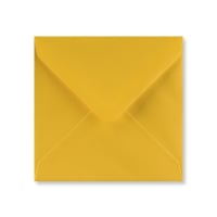 GOLDEN YELLOW 130mm SQUARE ENVELOPES