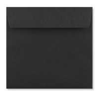 BLACK 155MM SQUARE PEEL & SEAL ENVELOPES