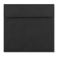 BLACK 170mm SQUARE PEEL & SEAL ENVELOPES