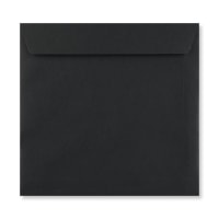 BLACK 220mm SQUARE PEEL & SEAL ENVELOPES
