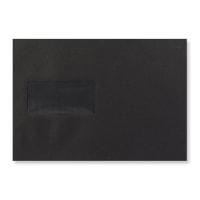 C5 BLACK WINDOW PEEL & SEAL ENVELOPES