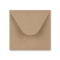 RECYCLED FLECK KRAFT 130 mm SQUARE ENVELOPES 125gsm