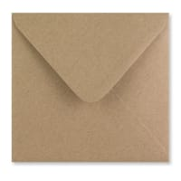 FLECK KRAFT 155mm SQUARE ENVELOPES 125GSM