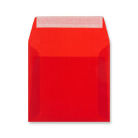 125 x 125MM RED TRANSLUCENT ENVELOPES