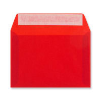 C6 RED TRANSLUCENT ENVELOPES
