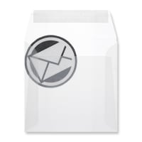 160 x 160MM CLEAR TRANSLUCENT ENVELOPES