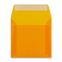 160 x 160MM ORANGE TRANSLUCENT ENVELOPES
