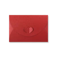 C6 CARDINAL RED BUTTERFLY ENVELOPES