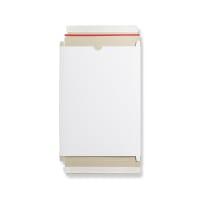 WHITE 320x230x15mm BOX MAILER WITH RIPPER STRIP