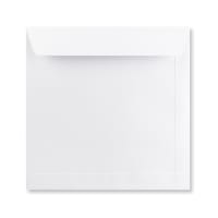 WHITE 220mm SQUARE ENVELOPE PEEL & SEAL
