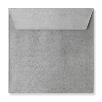 130 X 130MM SILVER TEXTURED ENVELOPES