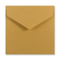 155 x 155MM GOLD V-FLAP PEEL AND SEAL ENVELOPES