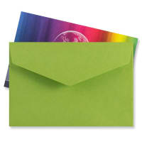 62 x 94MM GREEN V-FLAP PEEL AND SEAL ENVELOPES