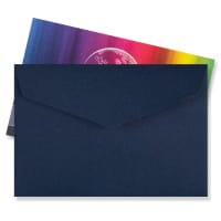 62 x 94MM NAVY BLUE V-FLAP PEEL AND SEAL ENVELOPES