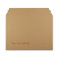 255 x 345mm RIGID FLUTED PRINTED CARDBOARD ENVELOPES