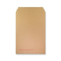 460 x 330mm RIGID FLUTED PRINTED CARDBOARD ENVELOPES