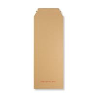 480 x 195mm RIGID FLUTED PRINTED CARDBOARD ENVELOPES
