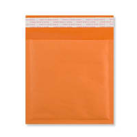 230MM SQUARE ORANGE PADDED BUBBLE ENVELOPES