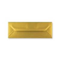 METALLIC GOLD 80 x 215 mm ENVELOPES (i3)