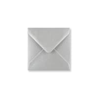 METALLIC SILVER 116mm SQUARE ENVELOPES