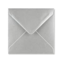 METALLIC SILVER 140mm SQUARE ENVELOPES