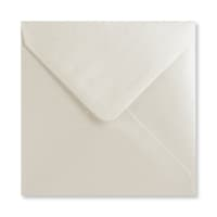 PEARLESCENT OYSTER WHITE 130mm SQUARE ENVELOPES
