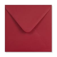 DARK RED 155mm SQUARE ENVELOPES 120GSM