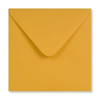 DEEP YELLOW 155mm SQUARE ENVELOPES 120GSM