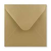 GOLD 155mm SQUARE ENVELOPES 120GSM