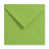 MID GREEN 155mm SQUARE ENVELOPES 120GSM