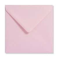 PALE PINK 155mm SQUARE ENVELOPES 120GSM