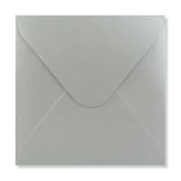 SILVER 155mm SQUARE ENVELOPES 120GSM