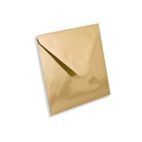 GOLD MIRROR 130mm SQUARE ENVELOPES 120GSM
