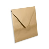 GOLD MIRROR 160mm SQUARE ENVELOPES 120GSM
