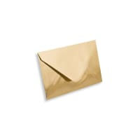 GOLD MIRROR 62 x 94mm ENVELOPES 120GSM