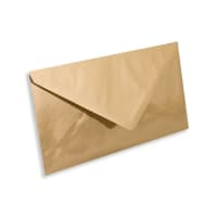 DL GOLD MIRROR ENVELOPES 120GSM