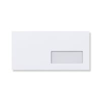 DL WHITE WINDOW RIGHT SIDED PEEL AND SEAL ENVELOPES 115GSM