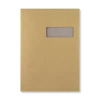 C4 MANILLA BOARD BACKED WINDOW ENVELOPES 130GSM