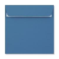 BRIGHT BLUE 155MM SQUARE PEEL & SEAL ENVELOPES