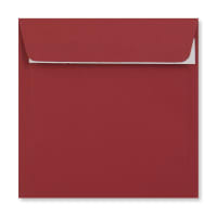 DARK RED 155MM SQUARE PEEL & SEAL ENVELOPES