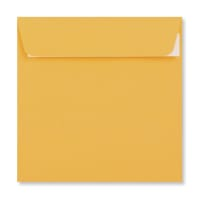 DEEP YELLOW 155MM SQUARE PEEL & SEAL ENVELOPES