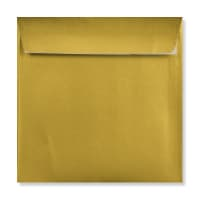 METALLIC GOLD 155mm SQUARE PEEL AND SEAL ENVELOPES 120GSM