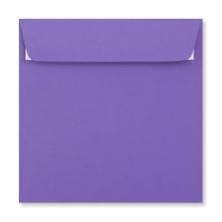 PURPLE 155MM SQUARE PEEL & SEAL ENVELOPES