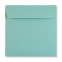 ROBIN EGG BLUE 155MM SQUARE PEEL & SEAL ENVELOPES