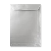 C4 METALLIC SILVER PEEL AND SEAL ENVELOPES 120GSM