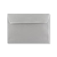 C6 METALLIC SILVER PEEL AND SEAL ENVELOPES 120GSM