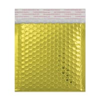 165 x 140mm GLOSS METALLIC GOLD PADDED ENVELOPES