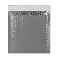 165MM SQUARE GLOSS METALLIC DARK GREY PADDED ENVELOPES