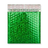165 x 165mm METALLIC GREEN HOLOGRAPHIC PADDED ENVELOPES