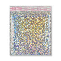 165 x 165m SILVER METALLIC GLOSS HOLOGRAPHIC PADDED ENVELOPES